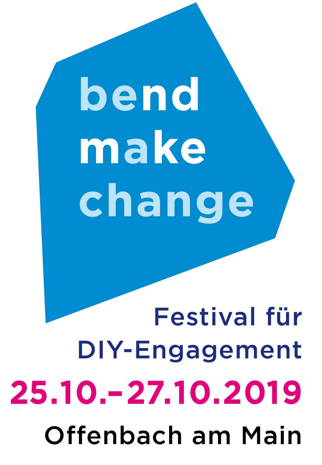 Logo Bend Make Change 2019: Politics of Blockchain, 25. - 27. Oktober 2019 in Offenbach